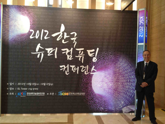 David at the Korea Supercomputer 2012 Conference (KSC 2012) in Seoul