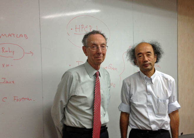 David with Professor HIRAKI (right) at the University of Tokyo in Japan