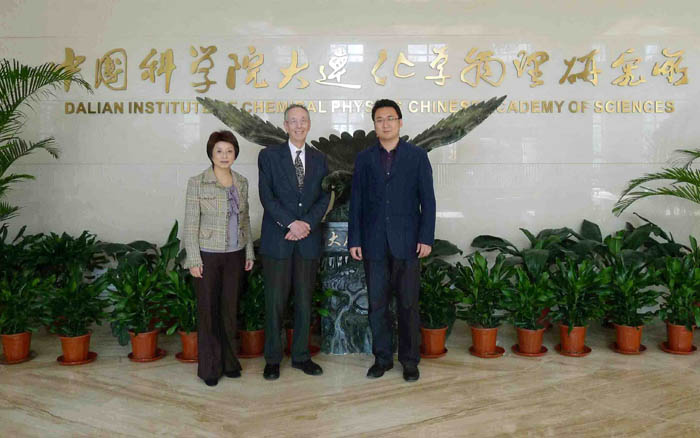Dr. Jun SUN (right) with ATIP's David Kahaner and Debbie Chen at the Dalian Institute of Chemical Physics (DICP) of the Chinese Academy of Sciences (CAS) in Dalian, China