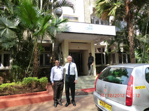David visits the Centre for Development of Advanced Computing (C-DAC) Headquarters in Pune, India, December 2012