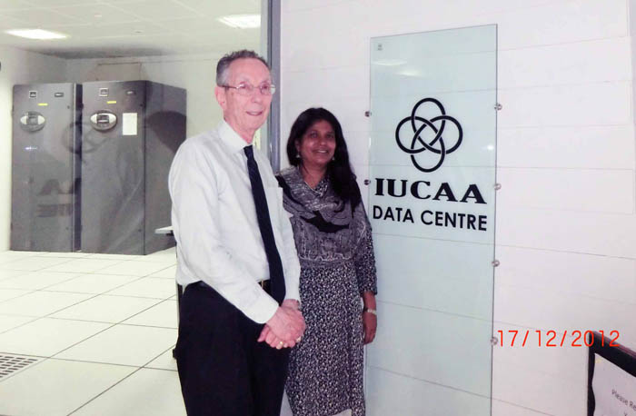 David visits the Inter-University Centre for Astronomy and Astrophysics (IUCAA) in Pune, India