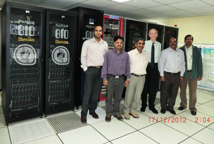 "C-DAC's New PARAM ""Biochrome\"" supercomputer."