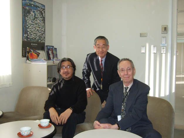 ATIP visits Dr. Jaw Shen TSAI (left) at the NEC Tsukuba Laboratory in Japan in January 2013.