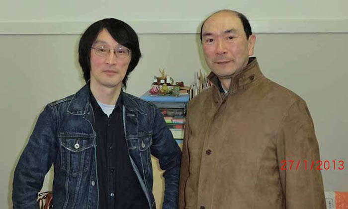 Prof. Jun MAKINO (Left) at Tokyo Institute of Technology with ATIP Japan's Senior HPC Advisor, Eietsu TAMURA (Right)