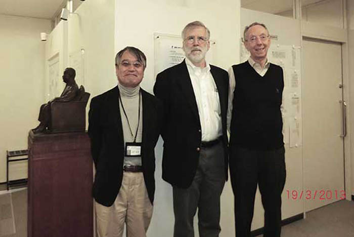 From right: David Kahaner (ATIP) and Bill Harrod (DOE) visit R. HIMENO at RIKEN in Tokyo during a recent trip to Japan.