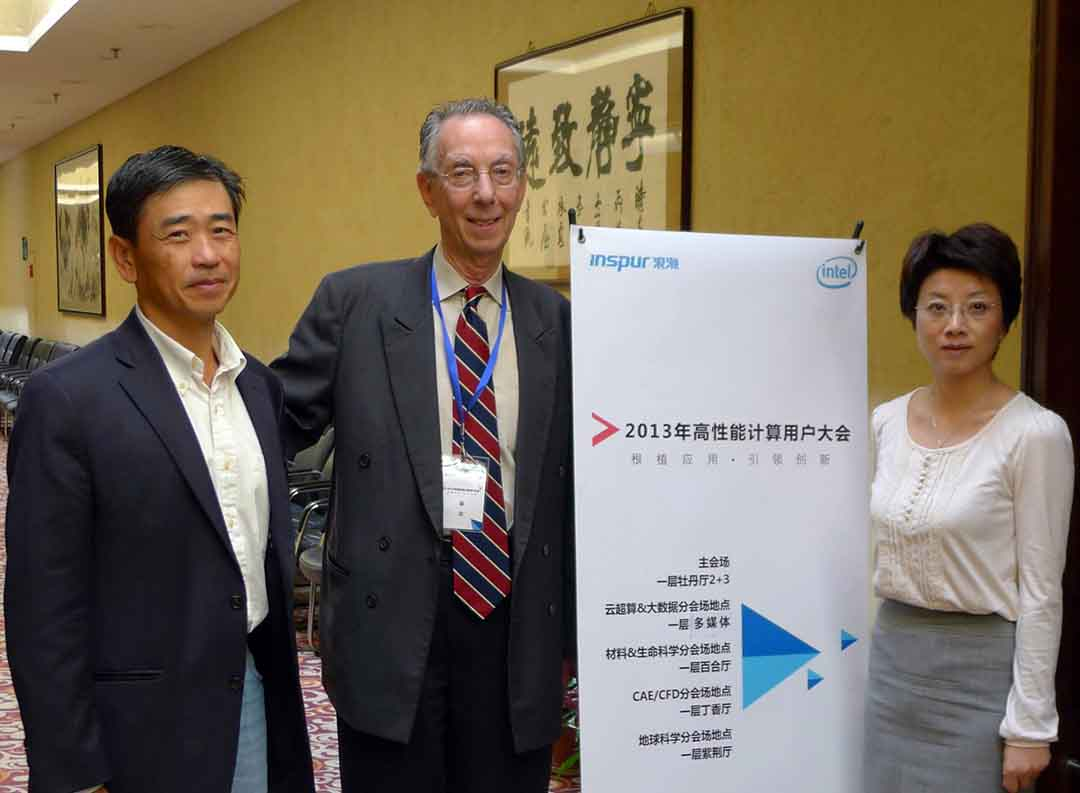 ATIP attends Inspur's HPC User Forum in Beijing China on September 25, 2013. From left to right: Dr. Simon SEE, Chief Scientific Computing Advisor for BGI; David KAHANER, ATIP President; and Debbie CHEN, ATIP China Country Manager.